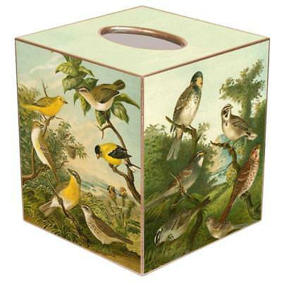 Tissue Box Cover Square Bathroom Accessories Dispenser Holder Birds