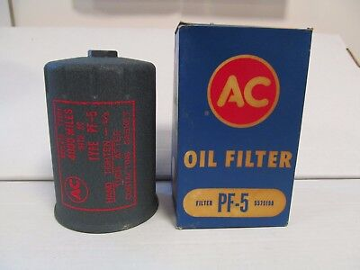 1959-1962 Oldsmobile 88 98 Buick AC PF-5 Vintage Crynkle GREEN Oil Filter RARE