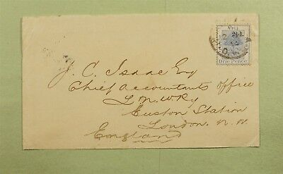 Dr Who 1895 Orange Free State South Africa To England C07994