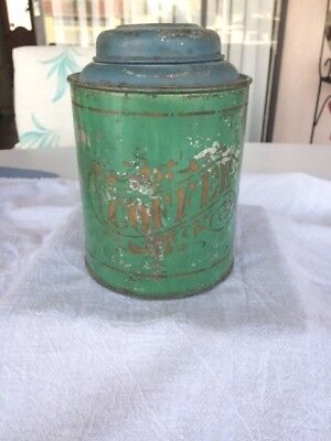 Antique Coffee Tin With Hinged Lid!! Nice!!