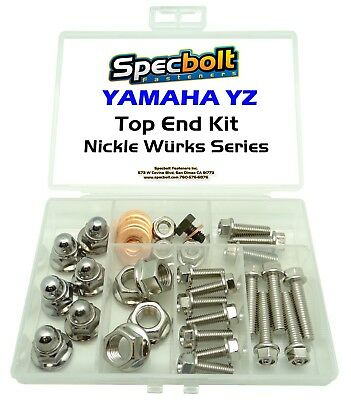 Nickel Wurks Yamaha Yz Top End Engine Rebuild Fastener Kit 80 85 125 250 Wurks