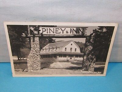 Vintage PINEY INN SHERIDAN WYOMING RPPC REAL PHOTO POSTCARD Hotel Dude Ranch