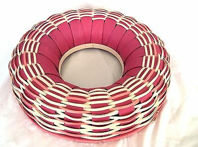 Pink & White Wreath BASKET Longaberger New Mothers Day Gift or Easter