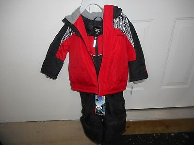 ZeroXposur Snow Suit Boys Size 4T Red & Black