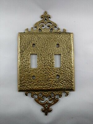 Vintage Brass Hammered Switch Plate