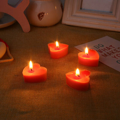 Wax Candle Decorating Romantic 10pcs Heart Shape Gift Party Valentine'S Day