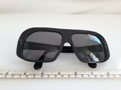 Cutler and Gross Oversized Sunglasses in Black and Subtle Silver Shimmer