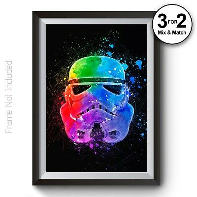 Stormtrooper Poster - Star Wars Wall Art - Abstract Giclee Wall Art Print