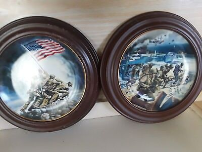 set of 2 Franklin Mint World War II collectible plates