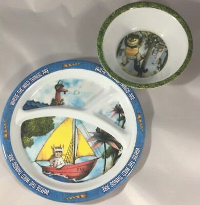 Where the Wild Things Are Plastic childrens divider plate and Bowl Melamine Max
