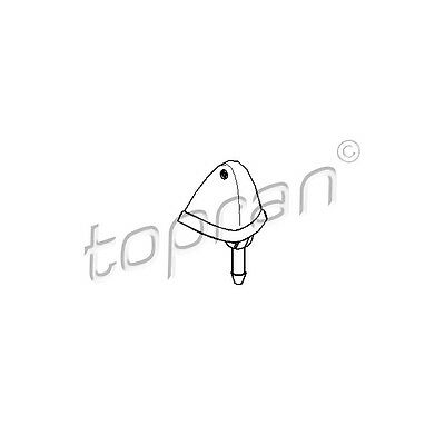 TOPRAN Washer Fluid Jet, windscreen 103 244