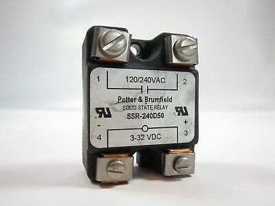 Potter Brumfield SSR-240D50 Solid State Relay 3-32VDC Input