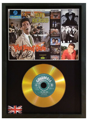 Cliff Richard - The Shadows 'the Young Ones' Signed Gold Cd Disc Memorabilia