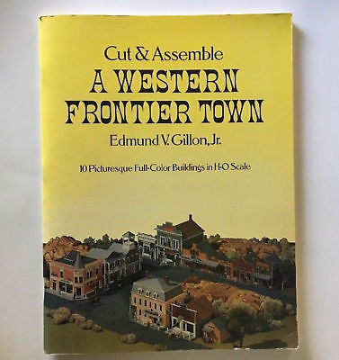 Cut and Assemble a Western Frontier Town, Edmund Gillon 10 HO Scale NEW Building