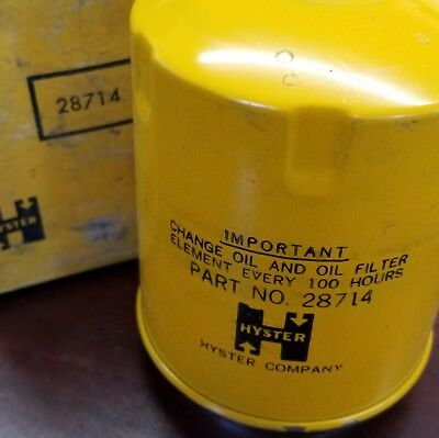 Hyster Oil Filter part number 28714