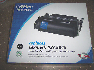 Office Depot® Brand 12A5845 Replacement Black Toner Cartridge For Lexmark 12A
