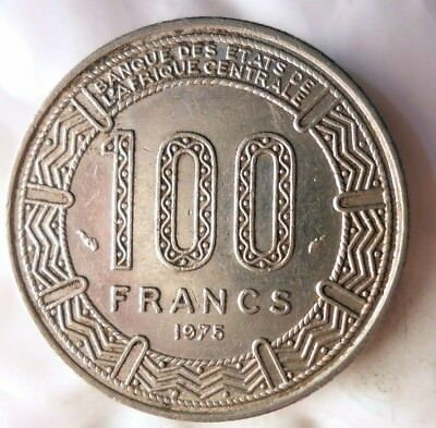 1975 CAMEROON 100 FRANCS - KEY COIN - VERY Rare Exotic African Coin - Lot #M19