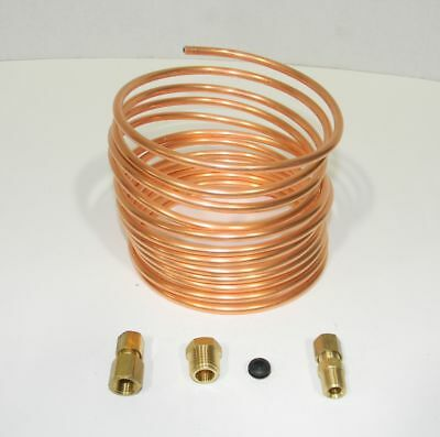 """Oil Pressure Gauge Copper Tubing Line Kit 12' x 3/16"""" for Ford Tractors  NEW"""