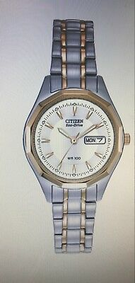 Brand New!!! Citizen Women's Eco-Drive Sport Two-Tone Watch EW3144-51A