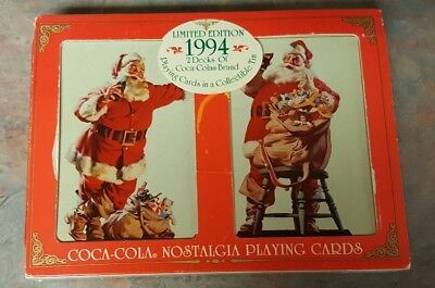 1994 Limited Edition Coca Cola Nostalgia Playing Cards In Tin