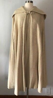 Vintage 1960s Wool Hooded Cape