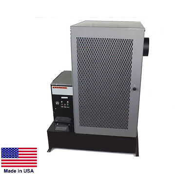 "WASTE OIL HEATER Multi-Fuel - Commercial - Includes 12"" Pedestal - 120,000 BTU"