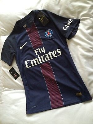 PSG Football Shirt BNWT Player Issue Size S Neymar Cavani Mbappe Paris France