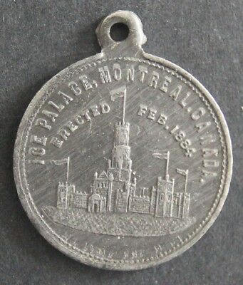 Canadian Medallion - Montreal - Winter Carnival - 1884 - Ice Palace