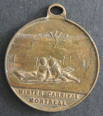 Canadian Medallion - Montreal - Winter Carnival - Brass