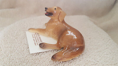 Hagen Renaker Dog Golden Retriever Figurine Miniature New Free Shipping 03376