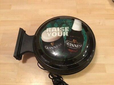 Raise Your Guinness Electric Beer Sign, Wall Mount Two Sided Bar Light NEEDS FIX