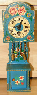Vintage Helmut Kammerer Schonach Miniature Toy Wooden Grandfather Clock Germany