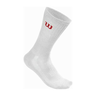 Wilson Mens Crew Sock 3-Pair/Pack White