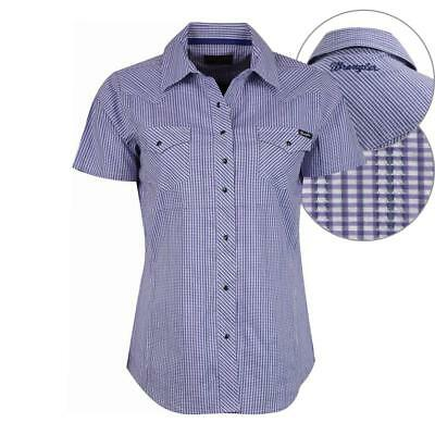 Wrangler Isa Stretch Shirt Womens Purple Check