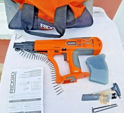 Ridgid R8660 18V Collated Screwdriver. Used 1 time, less than 300 screws.