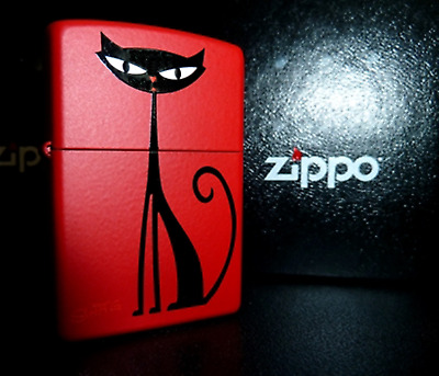 "RARE 1999 SHAG ""KITTY KAT' Original Black Cat ZIPPO LIGHTER Limited Edition NEW"