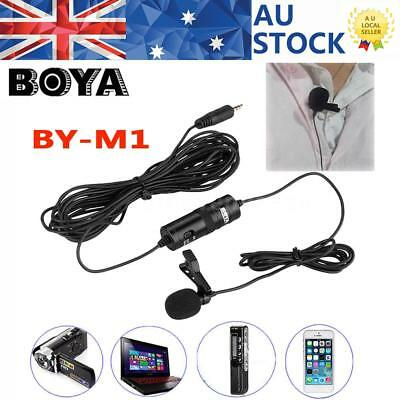 BOYA BYM1 Omnidirectional Lavalier Microphone Mic Cell Phone DV Camera Camcorder