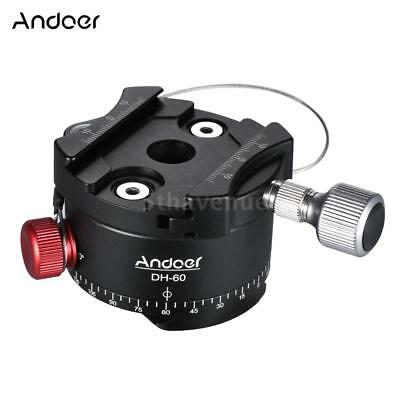 360° Panoramic Ball Head Indexing Rotator HDR Tripod Head Kit for DSLR DV Camera