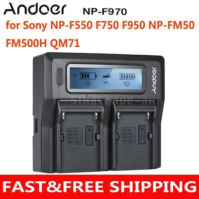 LCD Display Battery Charger for Sony NP-F550 F750 F950 NP-FM50 FM500H QM71 AU
