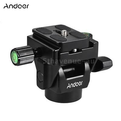 Andoer M-12 Monopod Tilt Head Panoramic Fluid Head with Quick Release Plate I3N0