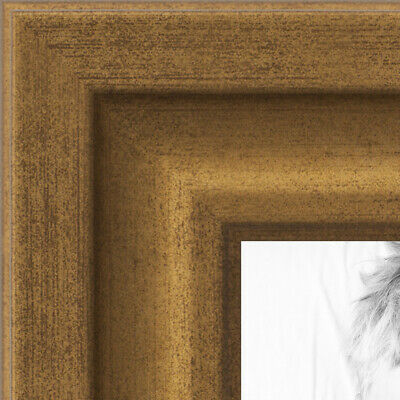 ArtToFrames 1.25 Inch Muted Gold Glow Picture Poster Frame -N9590