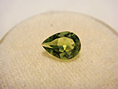 Peridot Pear Cut Gemstone 7 mm x 5 mm 0.60 Carat Natural Gem