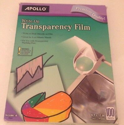 Write On Transparency Film Apollo Brand Approximately 100 Sheets