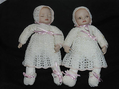 Beautiful Artist Made Twin Baby Dolls With Gorgeous Crochet Outfits
