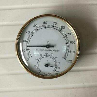 4 Inch Diameter Sauna Thermometer & Hygrometer Hygrothermograph 10℃-120 ℃