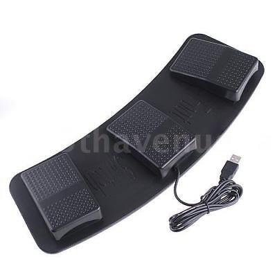 Plastic USB Triple Foot Switch Pedal Control Action Keyboard Mouse Nonslip