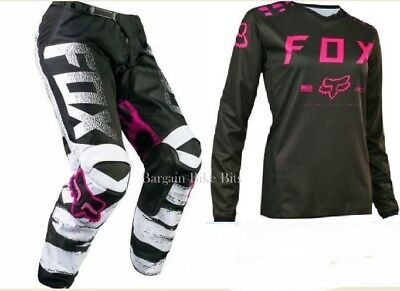 FOX GIRLS MOTOCROSS PANTS & JERSEY NEW #28 /YXL Pink Female Youth BMX MX