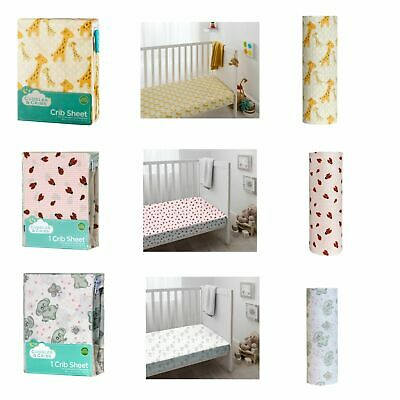 Cuddles & Cribs 1 Pack GOTS Certified 100% Organic Cotton Crib Fitted Sheet