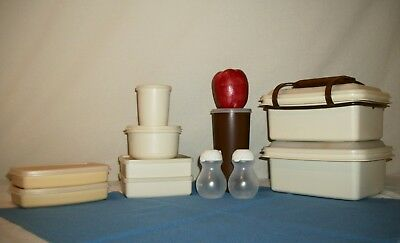 Tupperware 23pc CHOCOLATE & ALMOND  Lunch Box Things ~Pak N Carry ~RM S&P ~Snack