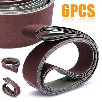 "2"" X 72"" Cutter Makers Fine Grit Sanding Belts 6 Pack Assortment"